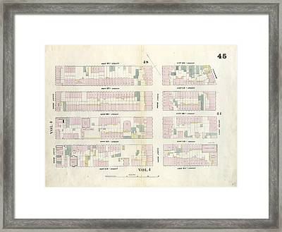 Plate 45 Map Bounded By West 18th Street, East 18th Street Framed Print by Litz Collection