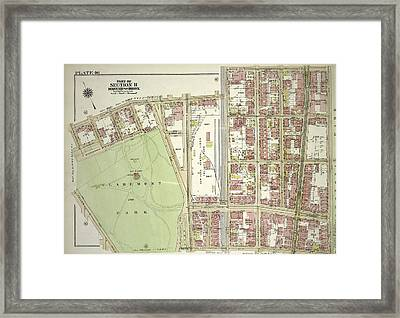 Plate 46, Part Of Section 11 Framed Print