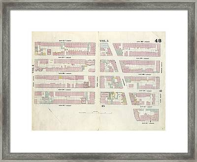 Plate 48 Map Bounded By West 22nd Street, East 22nd Street Framed Print by Litz Collection