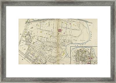 Plate 49 Bounded By Harlem River N.y Framed Print