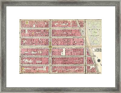 Plate 49 Bounded By W. 26th Street, Broadway Madison Square Framed Print by Litz Collection
