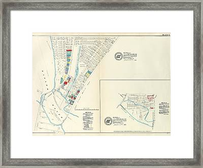Plate 5 Map No. 375 Bounded By Fourth Avenue Framed Print