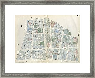 Plate 6 Map Bounded By City Hall Square Framed Print