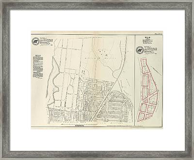 Plate 6 Map No. 141 Bounded By James Street Framed Print