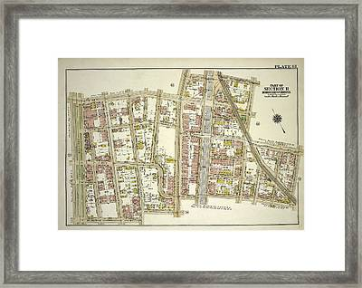 Plate 61, Part Of Section 11, Borough Of The Bronx. Bounded Framed Print by Litz Collection