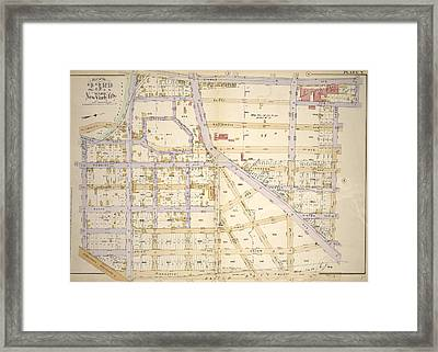 Plate 7 Bounded By St. Anns Ave., John St Framed Print by Litz Collection