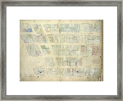 Plate 7 Map Bounded By Murray Street, Broadway, Dey Street Framed Print by Litz Collection