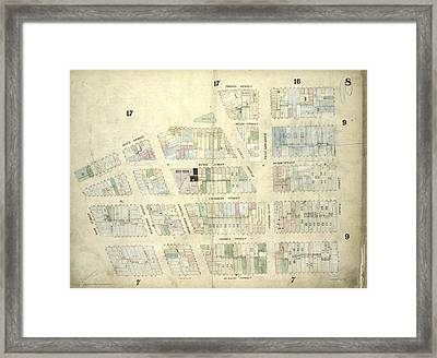 Plate 8 Map Bounded By Duane Street, Thomas Street, Church Framed Print