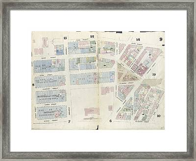 Plate 9 Map Bounded By Pearl Street, Chatham Street, Duane Framed Print by Litz Collection