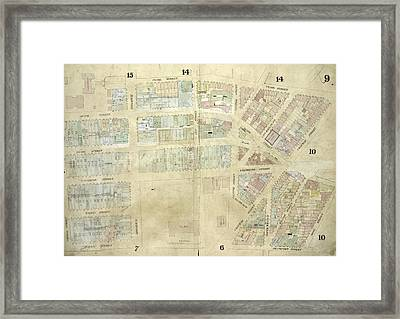Plate 9 Map Bounded By Pearl Street, Chatham Street Framed Print