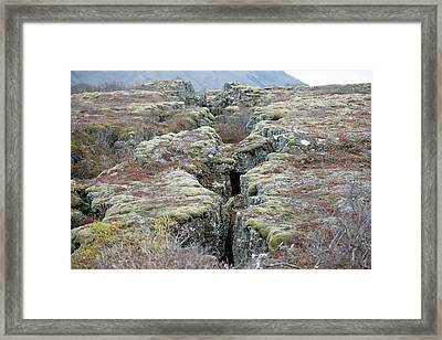 Plate Boundary Framed Print by Dr P. Marazzi