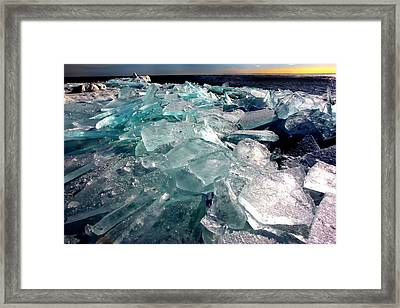 Plate Ice  Framed Print