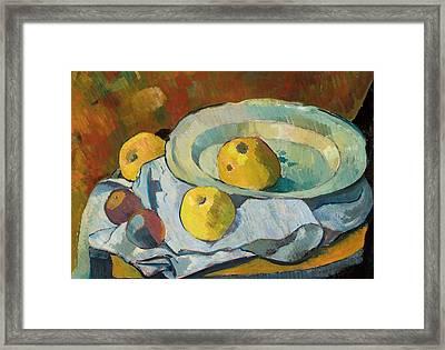 Plate Of Apples Framed Print
