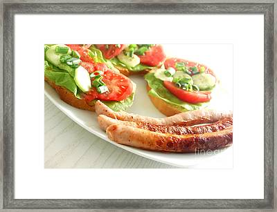 Plate With Sandwiches Framed Print by Michal Bednarek