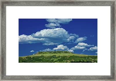 Plateau With Clouds - San Juan Framed Print
