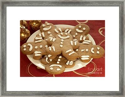 Plateful Of Gingerbread Cookies Framed Print