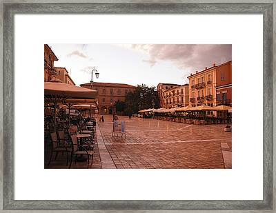 Plateia Syntagmatos Framed Print by David Waldo