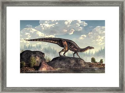Plateosaurus Framed Print by Daniel Eskridge
