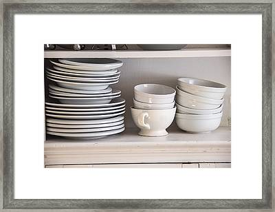Plates And Bowls Framed Print