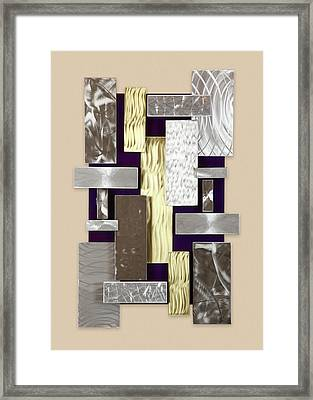 Plates Framed Print by Rick Roth