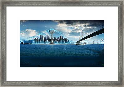 Platform Bridge Framed Print