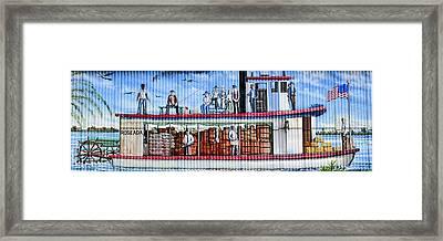 Palatka Boat Mural Framed Print by David Lee Thompson