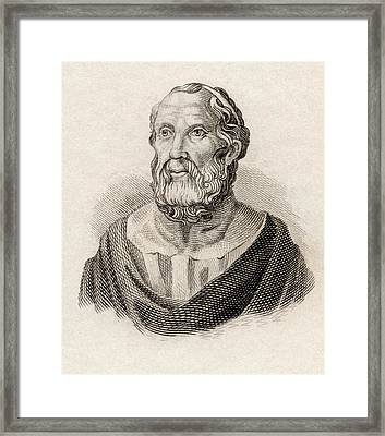 Plato From Crabbes Historical Dictionary Framed Print