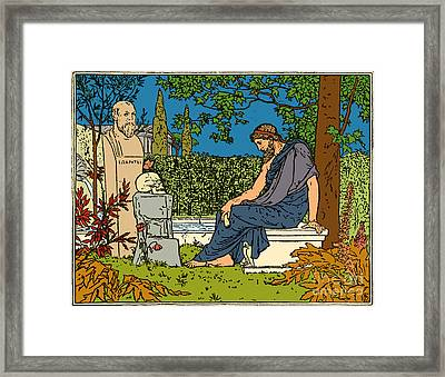 Plato, Greek Philosopher, At Socrates Framed Print