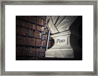 Plato  Framed Print by Mesha Zelkovich
