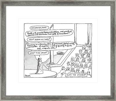 Plato The Standup Framed Print by Jack Ziegle