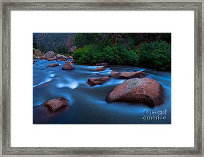 Platte At Twighlight Framed Print