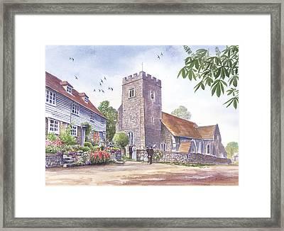 Plaxtol Church Wedding Framed Print