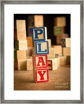 Play - Alphabet Blocks Framed Print by Edward Fielding