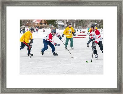 Play At 6th Hockey Framed Print by Jim Block