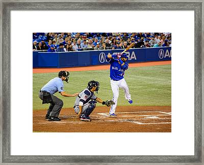 Play At The Plate Framed Print