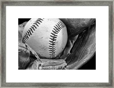 Play Ball Framed Print by Don Schwartz