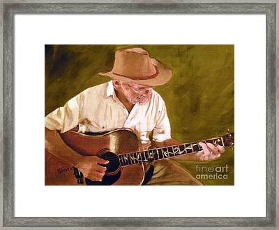 Play Guitar Play Framed Print by Sharon Burger