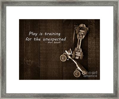 Play Is Training For The Unexpected Framed Print by Edward Fielding