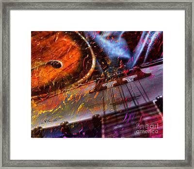Play It Again Sam Digital Guitar And Banjo Art By Steven Langston Framed Print by Steven Lebron Langston