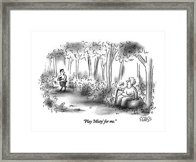 Play 'misty' For Me Framed Print