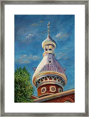 Play Of Light - University Of Tampa Framed Print