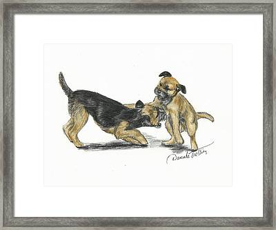 Play Or Not Framed Print