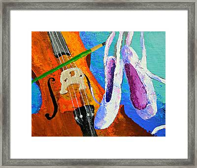 Play Paint Pointe Framed Print by J Travis Duncan