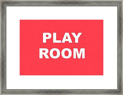 Play Room Framed Print by Chastity Hoff