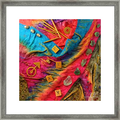Play Silk Collage Framed Print by Alene Sirott-Cope