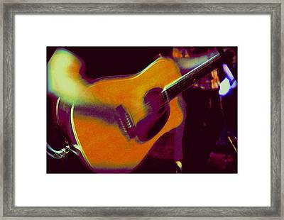 Play That Guitar Framed Print by Greg Thiemeyer