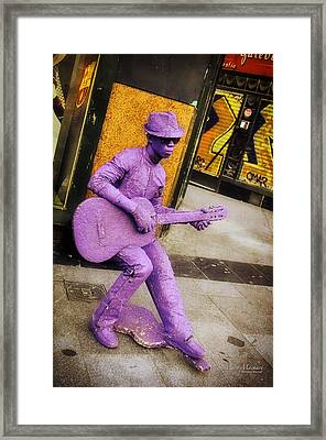 Play The Music - Madrid Framed Print by Mary Machare