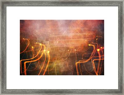 Play With Lights Framed Print by Betsy Knapp