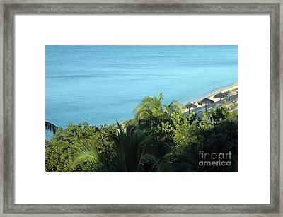 Playa Ancon Trinidad Framed Print