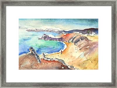 Playa Blanca In Lanzarote 01 Framed Print